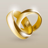 Wedding gold rings — Stock Vector