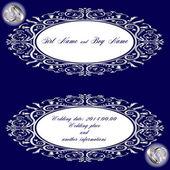 Bröllop kort silver — Stockvektor