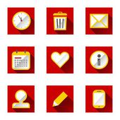 Planning icons — Stock Vector