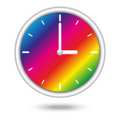 Clock with color spectrum — Stock Vector