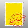 Postage stamp quality — Stock Vector
