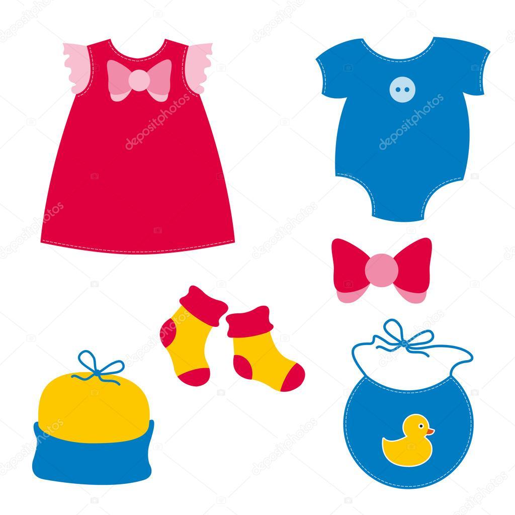 dibujos de ropa de bebe