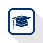 Graduation flat icon — Vector de stock