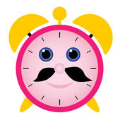 Funny alarm clock — Stock Vector