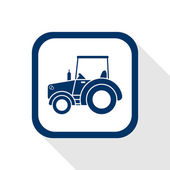 Tractor flat icon — Vector de stock