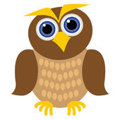 Clever owl — Stock Vector