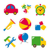 Set baby toys — Stock Vector