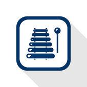 Xylophone flat icon — Stock Vector