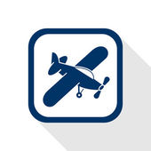 Airplane flat icon — Stock Vector