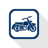Motorcycle flat icon — Stockvector