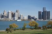Detroit Skyline — Stock Photo