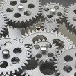 Stock Photo: Gears Interlocked Together