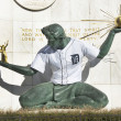Stock Photo: Spirit Of Detroit Statue With Detroit Tiger Baseball Jersey