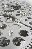 Gears Interlocked Together — Stock Photo