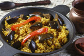 Eggplant Biryani - An Indian food made of rice and eggplant or brinjal — Stock Photo