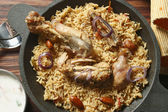 Ahmedi Biryani - An Indian dish containing meat, fish, or vegetables — Stock Photo