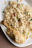 Chicken biryani is an dish based on basmati rice and chicken. — Stock Photo