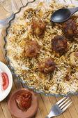 Kofta Biryani - A kofta based vegetarian biryani — Stock Photo