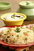 Vegetable Biryani - A popular Indian veg dish made with vegetables — Stock Photo