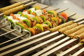 Barbecue Kebab Platter — Stock Photo