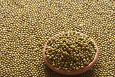 Green gram whole known as moong dal — Stock Photo