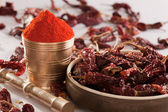 Red Chilly powder. — Stock Photo