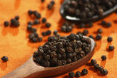 Black Pepper Corn or Sabut Kali Mirch — Stock Photo