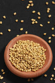 Fenugreek is used both as an herb (the leaves) and as a spice (t — Stock Photo