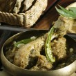 Постер, плакат: Gongura chicken A spicy chicken curry with the distinctive taste from Andhra