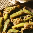 Постер, плакат: Eggplant Podi Curry or Powdered EggPlant brinjal Curry from Andhra