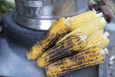 Grilled sweet corn in Chat Market, Indi — Stock Photo