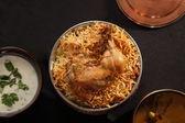 Hyderabadi Biryani - A  Popular Chicken or Mutton based Biryani — Stock Photo