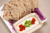 Tandoori Roti is an Indian unleavened bread — Stock Photo