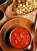 Lahsun ki Chutney is popular eatables in Rajasthan especially in winter season — Stock Photo