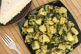 Saag Aloo Bhuna - Potato and Spinach dish — Stock Photo