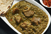 Saag Mutton it is a north Indian non-veg dish — Stock Photo