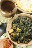 Saag Paneer it is a north Indian vegetable — Stock Photo