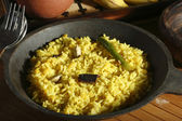 Hyderabadi Khichdi - an Indian or South Asian rice dish made from rice and lentil. — Stock Photo