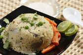 Upma is an Indian dish made of wheat rava (semolina). — Stock Photo