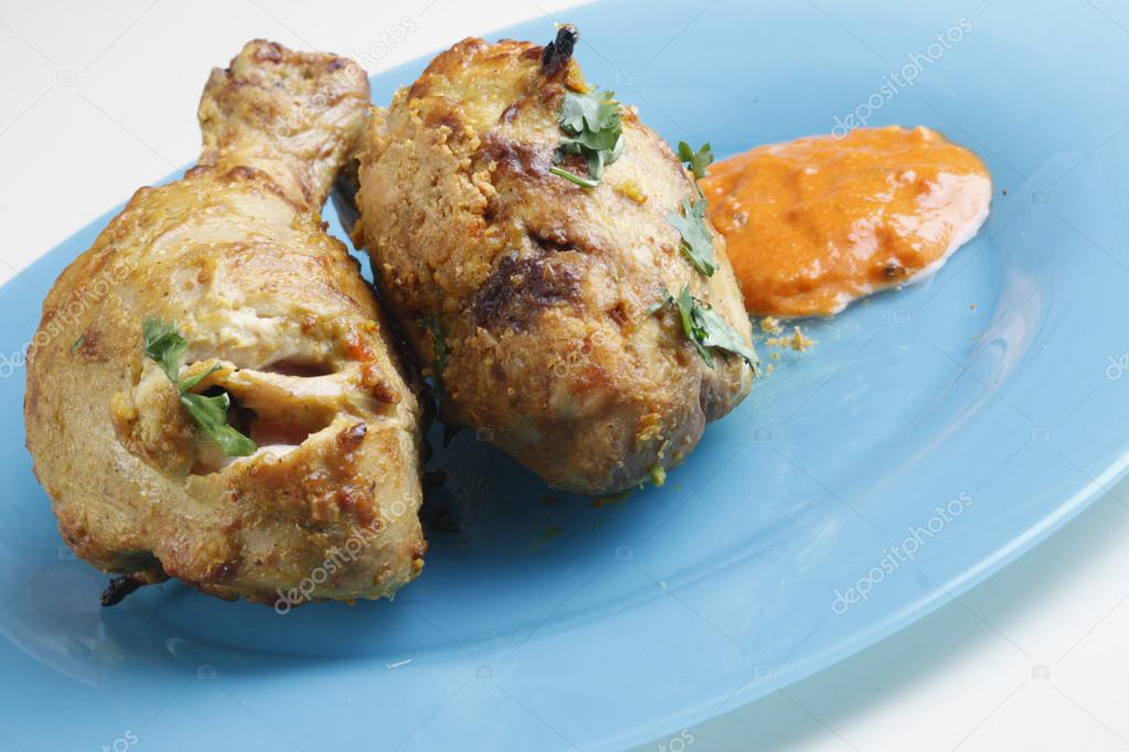 Chicken Leg - A Non-veg North Indian Dish � Stock Photo ...