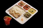 Indian vegetarian thali. — Stock Photo
