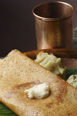 Butter Plain Dosa - a South Indian pancake — Stock Photo