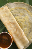 Egg Dosa is a thin crisp pancake made of egg. — Stock Photo