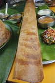 Ghee Roast Dosa - a pancake from South India — Stock Photo