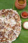 Onion dosa is typically  South Indian pancake. — Stock Photo
