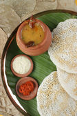 Set Dosa - A pancake from South India — Stock Photo