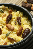 Kashmiri modur pulao is sweetened rice. — Stock Photo