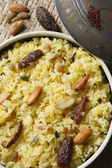 Kashmiri modur pulao is sweetened rice. — Stock Photo