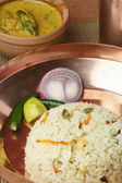 Ghee Bhatt - An Indian rice dish from Bengal prepared in clarified butter — Stock Photo