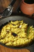 Hyderabadi Khichdi - an Indian or South Asian rice dish. — Stock Photo